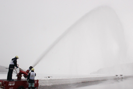 Water cannon training